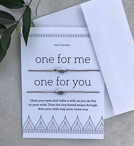 One for You One for Me Matching Wish Bracelet Set of Two Valentines Day Card