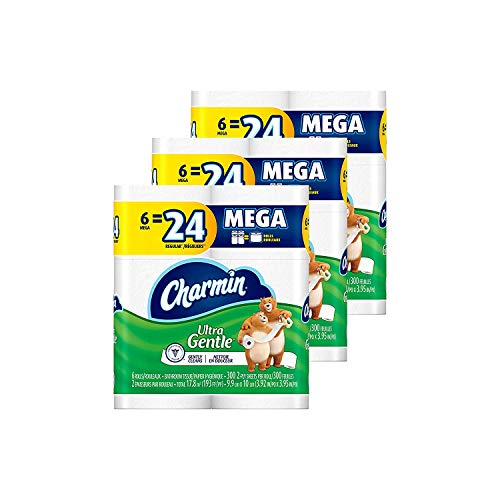 Charmin Ultra Gentle Toilet Paper, 18 Mega Rolls(Equal to 72 Regular Rolls) (Price Napkins Walmart)