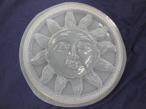 Round Sun with Rope Border Concrete Plaster Stepping Stone Mold 7035
