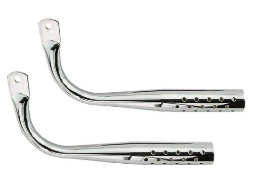 Muffler W/Holes Chrome. Bike mufflers, bicycle mufflers, for lowrider , beach cruiser, chopper, limo, stretch bike ()