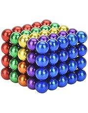 Supermagnesy neodymowe, kostki 5 mm [100 sztuk], bardzo silne magnesy do szklanych tablic magnetycznych, tablic magnetycznych, tablic suchościeralnych, tablic do przypinania, lodówek i wielu innych [tęcza]