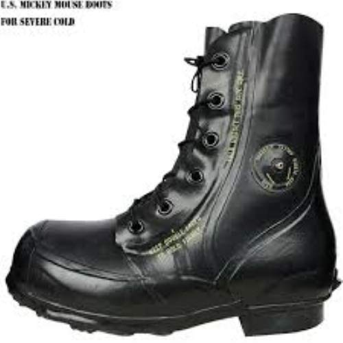 US Army GI Genuine Military Issue Men's Extreme Cold Weather Winter Snow Waterproof White Combat Bunny Boots with Valve
