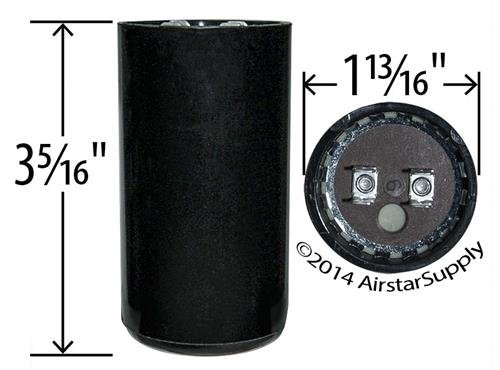Made in the USA BMI Start Capacitor # 092A072B250BD4A 72-86 uF x 220 250 VAC
