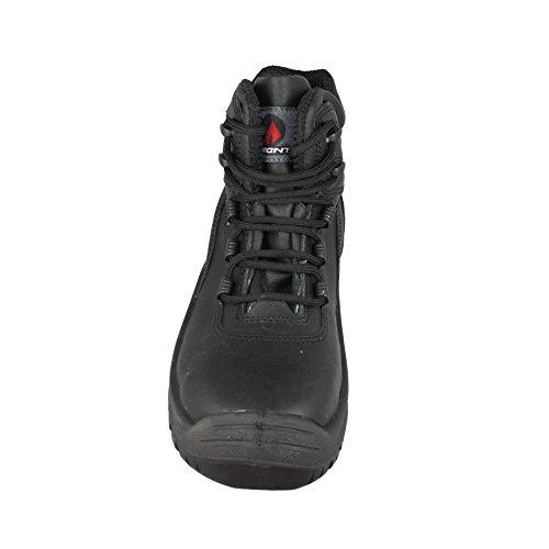 AIMONT - Calzado de protección de Piel para hombre Negro - negro