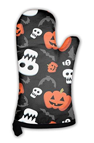 Gear New Oven Mitt, Funny Halloween Pattern With Skulls Bats And Pumpkins, (New Halloween Pumpkin Carving Patterns)