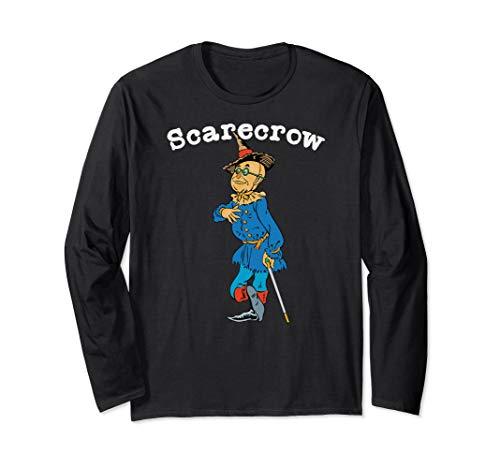 Classic Fairytale Book Art Wonderful Wizard of OZ Scarecrow Long Sleeve T-Shirt