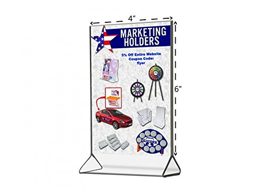 Marketing Holders New Economy Line Sign Frame Ad Holder Clear Styrene Table Top Tent Style Top Loading 4