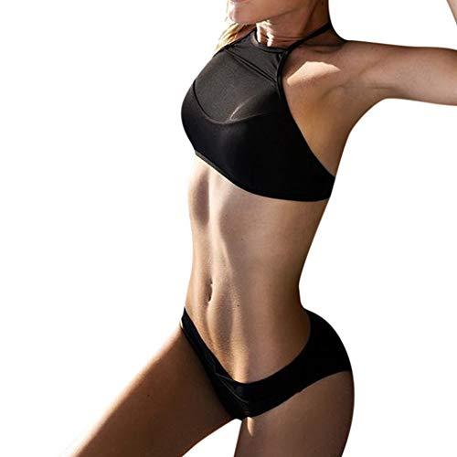 BBesty Women's Fashion Summer Plus Size Print Tankini Swimjupmsuit Swimsuit Beachwear Padded Swimwear Black