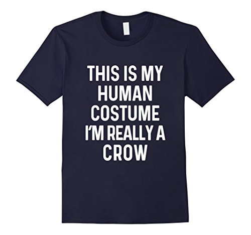 Mens Funny Crow Costume Shirt Halloween Adults Kids Men Women Medium Navy