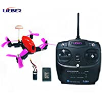 LIEBER New Arrival 4 Axis RC Quad Copter 150mm Nano Drone Pocket Drone Smallest FPV Racing Drone 5.8G Mini Toy Drone with Remote Controller - Red