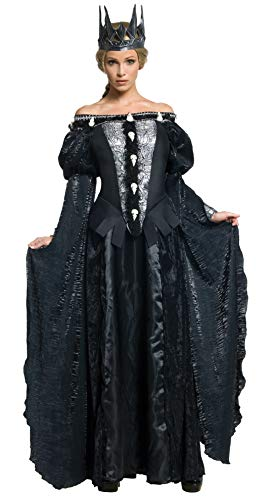 Snow White and The Huntsman Adult Queen Ravenna Skull Dress Costume, Black,