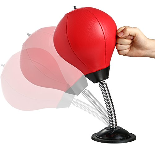 Brands Desktop (BRAND CENTER Desktop Punching Boxing Ball Bag with Strong Suction Base, Stress Buster Stress Relief Toy for Adults (Pump Included))