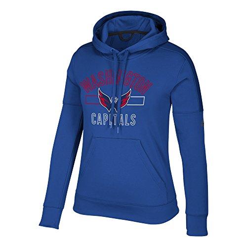 NHL Washington Capitals Womens Open Box Team Issued Pullover Hoodopen Box Team Issued Pullover Hood, Collegiate Royal, Medium