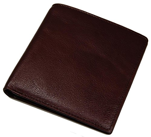 Brown Italian Wallet - Castello Italian Leather Hipster Wallet with RFID Security (dark brown)
