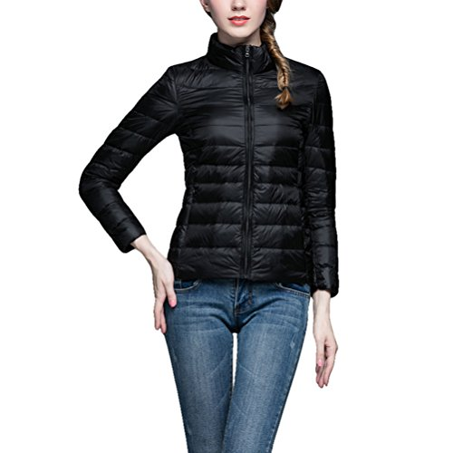 1 Women's Puffer Ultra Jacket Coat Black Down Lightweight Short n8nA7q
