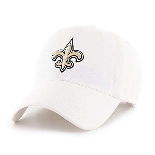 OTS NFL New Orleans Saints Male Challenger Adjustable Hat, White, One Size