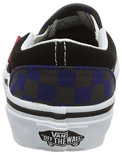 Vans Classic Slip-On, Zapatillas Unisex Niños Varios Colores (Black/blue Depthscheckerboard)