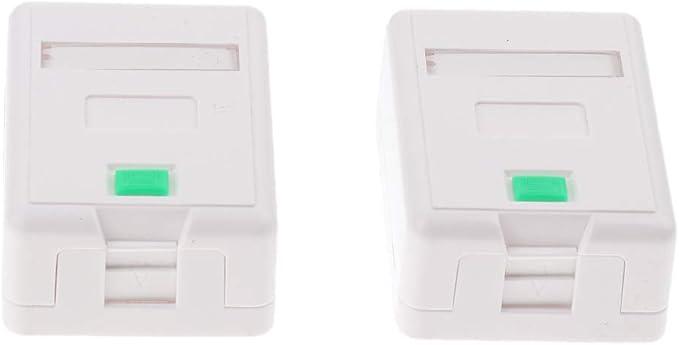 2 Piezas Caja de Montaje en Superficie de RJ45 Adhesivos con Tornillos Trapezoidal: Amazon.es: Electrónica