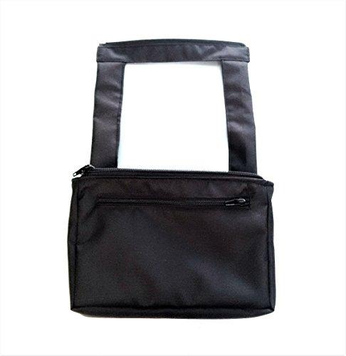 Bolsa de cochecito cochecito Organizador Mini bolso cambiador compacto 2en 1bolso impermeable de color negro