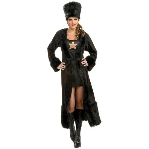 Rubie's Women's Black Russian Costume Dress, As Shown, Standard