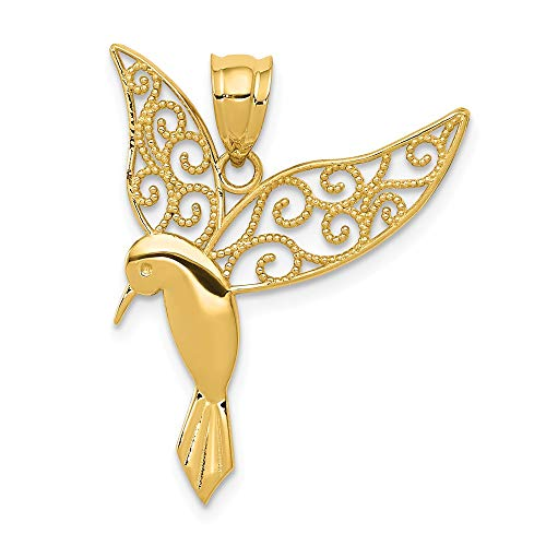 Jewels By Lux 14K Yellow Gold Polished Hummingbird - Hummingbird Polished Pendant
