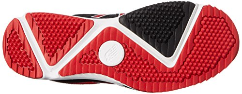 New Balance Mens T4040V3 Turf Baseball Shoe, Black/Red, 12.5 D US Black/Red