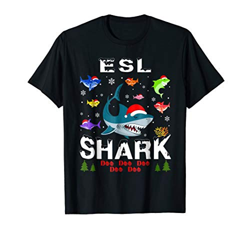 Christmas ESL Teacher Shark Doo Doo T-Shirt -