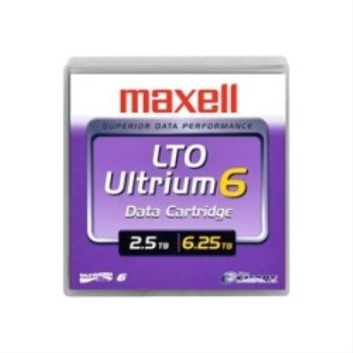 Maxell LTO Ultrium 6 Tape BaFe, 2.5/6.25TB, Part # 229558