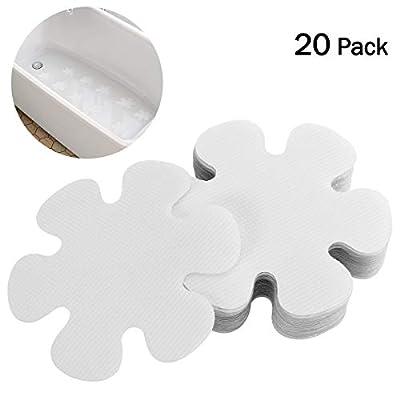 OUNONA 20PCS Flower Shape Non-Slip Safety Shower Treads PEVA Non Slip Stickers for Tubs Bath (Clear)