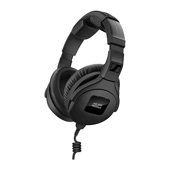 Sennheiser Pro Audio Headphones, Black (HD 300 PROtect) Monitoring sound for Live stages & Studio work