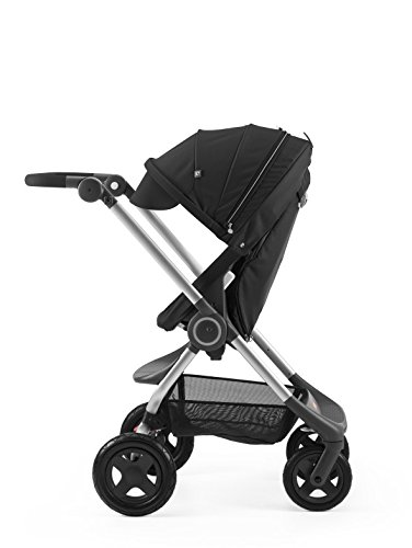 Stokke Scoot Complete Stroller, Black with cup holder