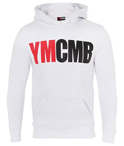 """YMCMB T-shirt and Hoodie (M (chest 42""""),White (pull on hoodie))"""