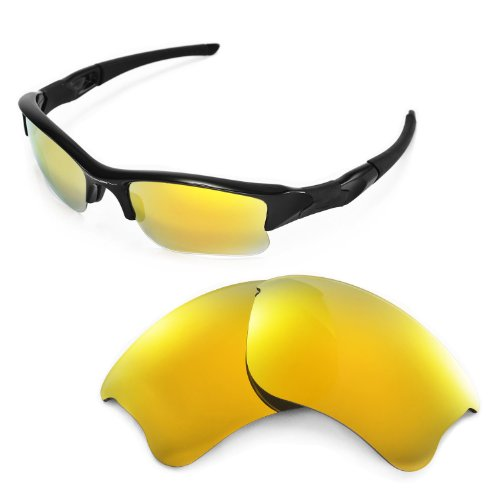 754488b478 Galleon - Walleva Replacement Lenses Oakley Flak Jacket XLJ Sunglasses -  Multiple Options Available (24K Gold Mirror Coated - Polarized)