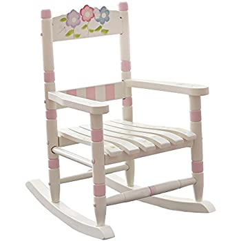 this item fantasy fields bouquet thematic kids wooden rocking chair imagination inspiring hand crafted u0026 hand painted details nontoxic