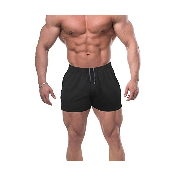 palglg Mens Running Shorts Mesh Workout Bodybuilding Quick Dry