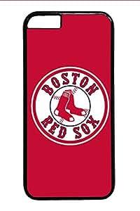 iPhone 6, la mejor navidad? Regalo Negro PC Funda para iPhone 6S [colorido] [Logo Cool] Funda de, material de pc de alta calidad anti-arañazos para iPhone 6/6S Boston Red Sox Logo