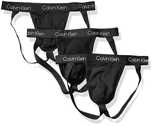 Calvin Klein Men's Underwear Breathable Cotton Mesh Jock Straps 3 Pack, Black, X-Large reviews