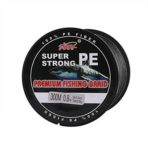 Panamami YUDELI 0.8 Schnur Nummer Super Strong 4 Strang 300M Premium PE Geflochtene Angelschnur Lake Multifilament Wire Woven Thread Schwarz