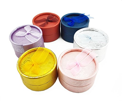 Yueton Colorful Round Shape Small Jewellery Gift Case Boxes