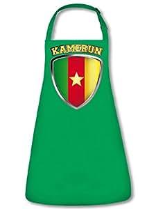 Camerún Fan Delantal Delantal, delantal con cuello ajustable VERS. Colores golebros