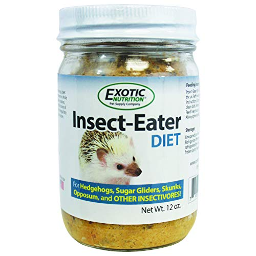 Exotic Nutrition Insect-Eater Diet for Hedgehogs and Sugar Gliders 12 oz. Jar