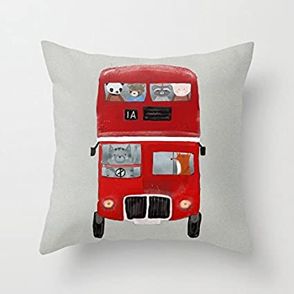 Wondrous Amazon Com Fjpt Throw Pillow Cover The Little Big Red Caraccident5 Cool Chair Designs And Ideas Caraccident5Info