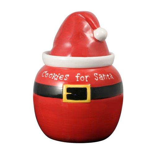 Pfaltzgraff Treats For Santa Hat Cookie Jar, 1-1/4-Quart Hat Cookie Jar