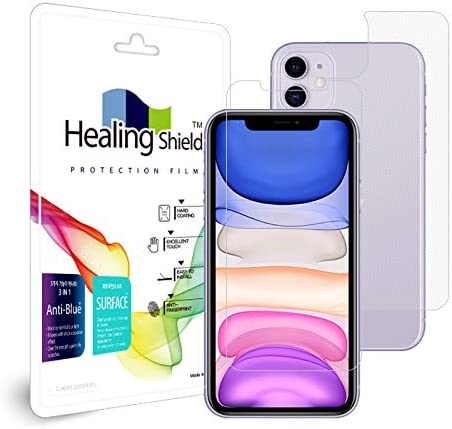 Front 1pc, Back 1pc, Camera 6pc Healingshield Screen Protector Anti-Fingerprint Anti-Glare Matte Film Compatible for Apple iPhone 11