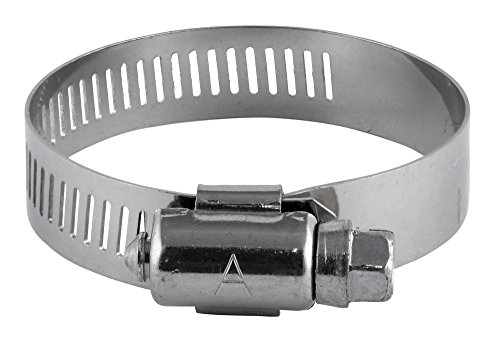 American Valve 10-Pack Worm Gear Hose Clamp, 1-1/16'' to 2'' (SAE size 24), CL24PK10, Stainless Steel Band & Housing by American Valve