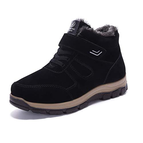 pelliccia antiscivolo 43 Cloth Ywqwdae Dimensione Chukka foderato Colore in Winter Sknow Stivaletti Beijing Stivaletto Shoes uomo Nero Old EU qB0SwIF