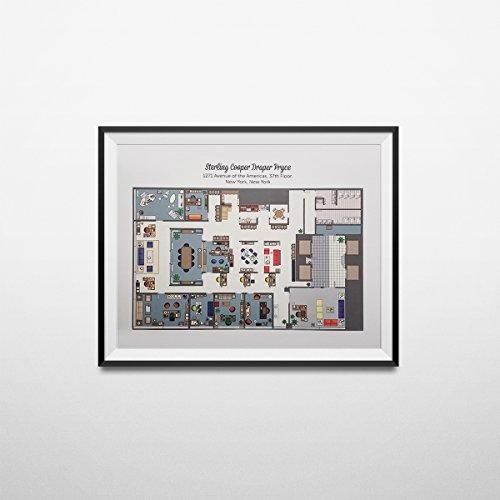 My Party Shirt Sterling Cooper Draper Pryce Floor Plan Poster Mad Men TV Show Offices Don Gift