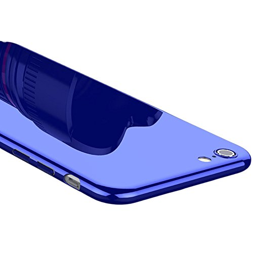iPhone 7/iPhone 8 Piano Lacquer Case, ACMBO Bright Hard PC Ultra Thin Slim Case Anti-Scratches no-Fade Glossy Coating Protective Cover Case for Apple iPhone 8/7 4.7 inch, Sapphire Blue