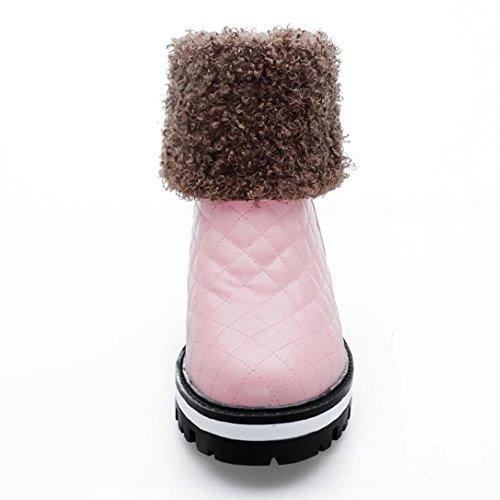 Hiver Bottes De Quillted Femmes Neige RAZAMAZA Bottines Pink 6Yw4q5g