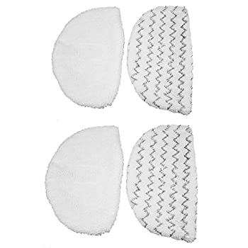 Minireen 4 Pack Microfiber Mop Pads Replacement for Bissell Powerfresh 1940 Series Steam Mop 5938 Mopping and Scrubbing (Washable)